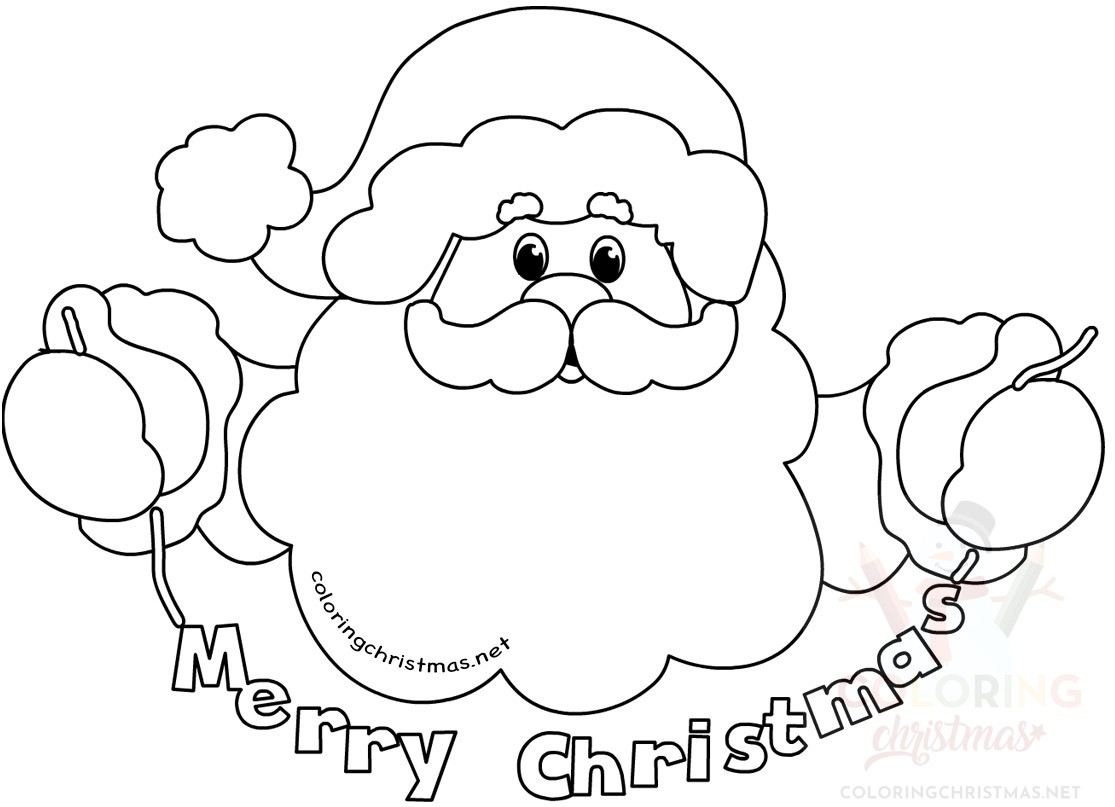 Santa Claus Merry Christmas Coloring Page