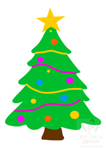 Christmas tree with star printable