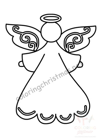 Angel Template Free Printable Coloring Christmas