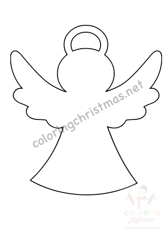 Christmas Angel Template Pdf Coloring Christmas