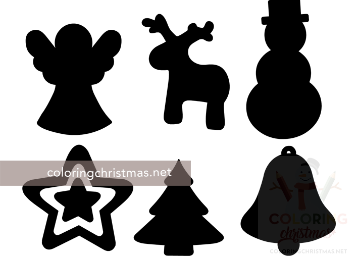 free silhouette Christmas ornament