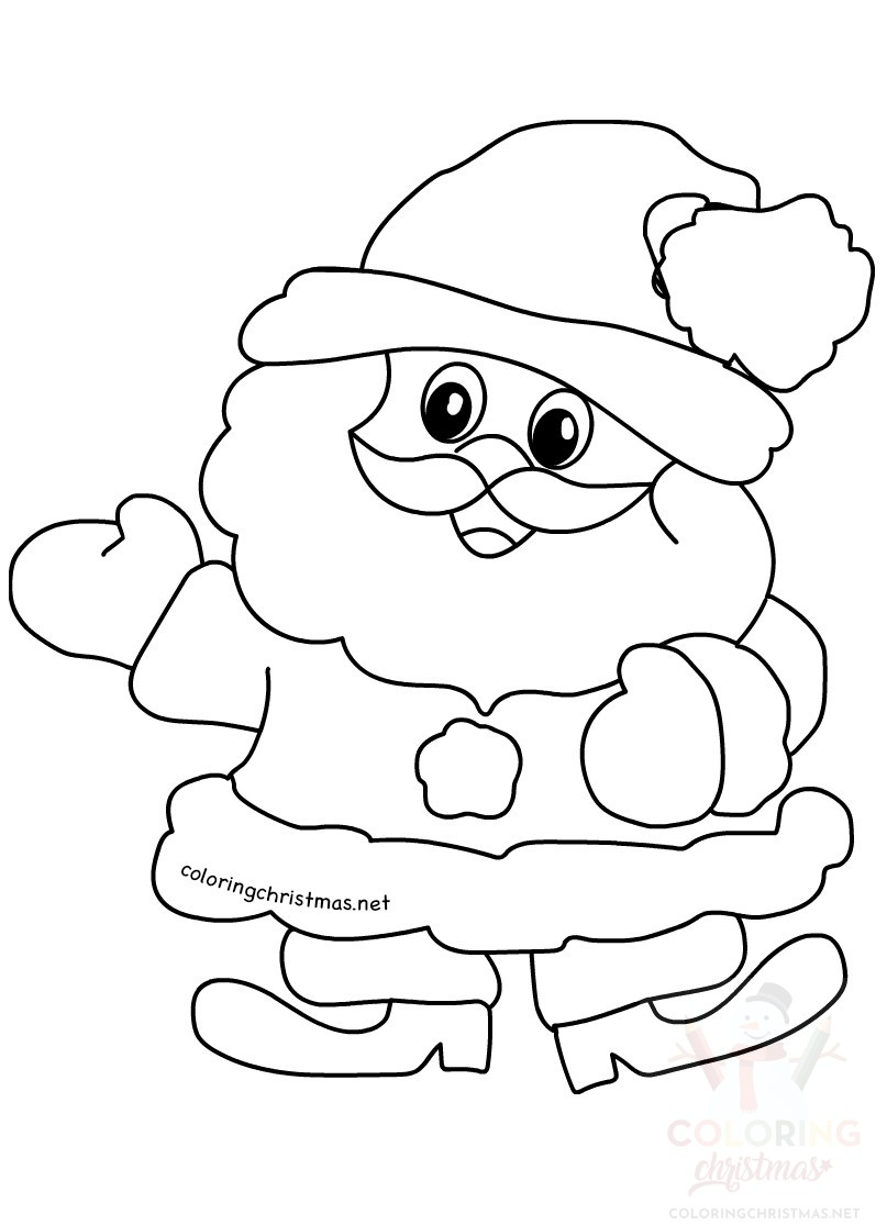 Cute little Santa Claus printable - Coloring Christmas