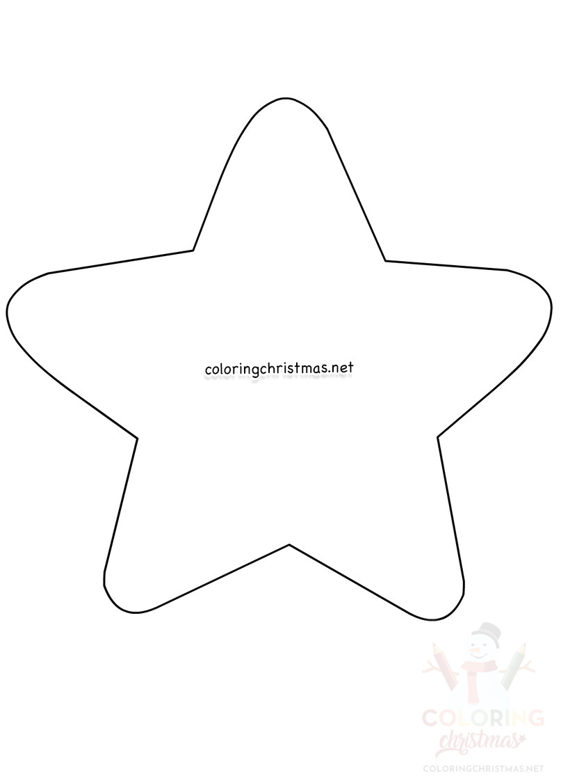 Large star template Christmas Ornament printable ...